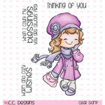 CC Designs - Rustic Sugar Collection - Clear Acrylic Stamps - Windy Day Cinnamon