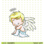 CC Designs - Rustic Sugar Collection - Christmas - Cling Mounted Rubber Stamps - Angel Clove