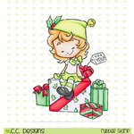 CC Designs - Rustic Sugar Collection - Christmas - Cling Mounted Rubber Stamps - Elf Cinnamon