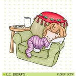 CC Designs - Rustic Sugar Collection - Christmas - Cling Mounted Rubber Stamps - Sleepy Cinnamon
