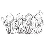 CC Designs - Swiss Pixie Collection - Cling Mounted Rubber Stamps - Butterfly Fence