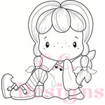 CC Designs - Swiss Pixie Collection - Cling Mounted Rubber Stamps - Sweetheart Birgitta