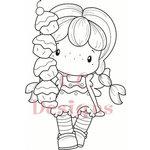 CC Designs - Swiss Pixie Collection - Cling Mounted Rubber Stamps - Cupcake Birgitta
