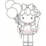 CC Designs - Swiss Pixie Collection - Cling Mounted Rubber Stamps - Birthday Gretel