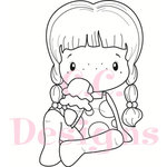CC Designs - Swiss Pixie Collection - Cling Mounted Rubber Stamps - Ice Cream Birgitta