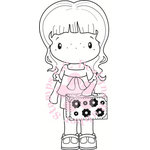 CC Designs - Swiss Pixie Collection - Cling Mounted Rubber Stamps - Abigail