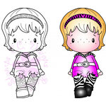 CC Designs - Cling Mounted Rubber Stamps - Fashionista Heidi
