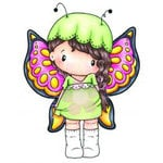 CC Designs - Swiss Pixie Collection - Cling Mounted Rubber Stamps - Beautiful Lucy