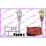 CC Designs - Swiss Pixie Collection - Cling Mounted Rubber Stamps - Snowy Wall