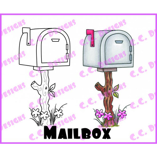 CC Designs - Swiss Pixie Collection - Cling Mounted Rubber Stamps - Mailbox