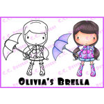 CC Designs - Swiss Pixie Collection - Cling Mounted Rubber Stamps - Olivias Brella