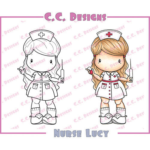 CC Designs - Swiss Pixie Collection - Cling Mounted Rubber Stamps - Nurse Lucy