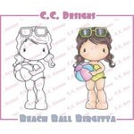 CC Designs - Swiss Pixie Collection - Cling Mounted Rubber Stamps - Beach Ball Birgitta