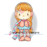 CC Designs - Swiss Pixie Collection - Cling Mounted Rubber Stamps - Lucy with Scarf