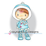 CC Designs - Swiss Pixie Collection - Cling Mounted Rubber Stamps - Winter Kisses Lucy