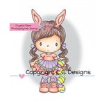 CC Designs - Swiss Pixie Collection - Clear Acrylic Stamps - Easter Lucy