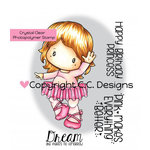 CC Designs - Swiss Pixie Collection - Clear Acrylic Stamps - Ballerina