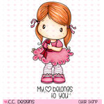 CC Designs - Swiss Pixie Collection - Clear Acrylic Stamps - Tiny Heart