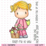 CC Designs - Swiss Pixie Collection - Clear Acrylic Stamps - Apple Lucy