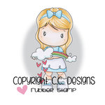CC Designs - Swiss Pixie Collection - Cling Mounted Rubber Stamps - Rainbow Lucy