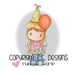CC Designs - Swiss Pixie Collection - Cling Mounted Rubber Stamps - Balloon Lucy