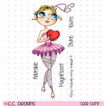 CC Designs - Tootsies Collection - Clear Acrylic Stamps - Adora