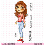 CC Designs - Tootsies Collection - Clear Acrylic Stamps - Mae