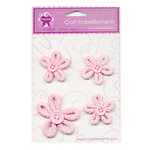 Creative Charms - Loop D Loop Collection - Flower Embellishments - Braided Daisy Medley - Pink