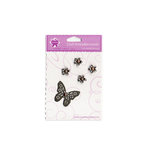 Creative Charms - Vintage Poppies Collection - 3 Dimensional Vintage Brads - Butterfly Garden Medley, CLEARANCE
