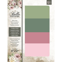 Crafter's Companion - Belle Countryside Collection - 9 x 12 Foam Sheets - Rustic Hues - Flower Forming Foam