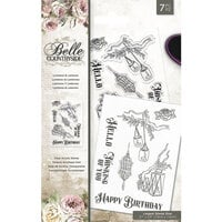 Crafter's Companion - Belle Countryside Collection - Clear Acrylic Stamps - Lumieres and Lanterns