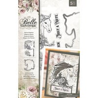 Crafter's Companion - Belle Countryside Collection - Clear Acrylic Stamp and Die Set - Equine Elegance
