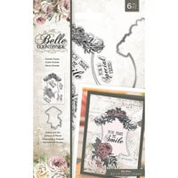 Crafter's Companion - Belle Countryside Collection - Clear Acrylic Stamp and Die Set - Grande Frame