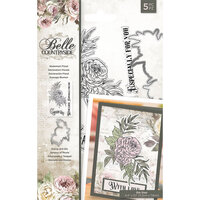 Crafter's Companion - Belle Countryside Collection - Clear Acrylic Stamp and Die Set - Statement Floral