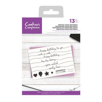Crafter's Companion - Clear Acrylic Stamps - Birthday Swash Sentiments