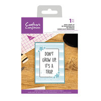 Crafter's Companion - Clear Acrylic Stamps - Don't Grow Up