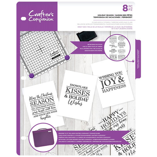Crafter's Companion - Clear Acrylic Stamps - Holiday Season