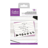 Crafter's Companion - Clear Acrylic Stamps - Just to Say Swash Sentiments