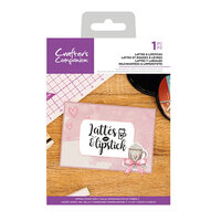 Crafter's Companion - Clear Acrylic Stamps - Lattes and Lipstick