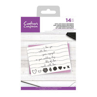 Crafter's Companion - Clear Acrylic Stamps - With Love Swash Sentiments
