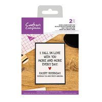 Crafter's Companion - Clear Acrylic Stamps - More and More Every Day