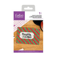 Crafter's Companion - Christmas - Clear Acrylic Stamps - Naughty Is The New Nice