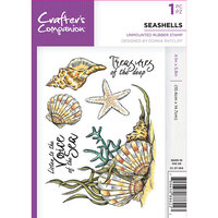 Crafter's Companion - Clear Acrylic Stamps - Seashells