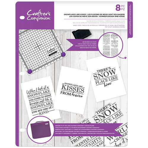 Crafter's Companion - Clear Acrylic Stamps - Snowflakes and Kisses