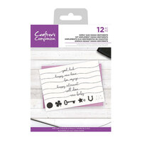 Crafter's Companion - Clear Acrylic Stamps - Simply Said Swash Sentiments