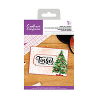 Crafter's Companion - Christmas - Clear Acrylic Stamps - Tinsel In A Tangle