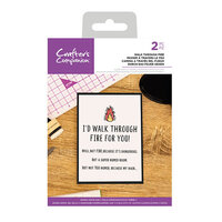 Crafter's Companion - Clear Acrylic Stamps - Walk Through Fire