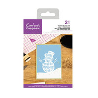Crafter's Companion - Christmas - Clear Acrylic Stamps - Worth Melting For