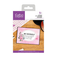 Crafter's Companion - Clear Acrylic Stamps - Be Yourself