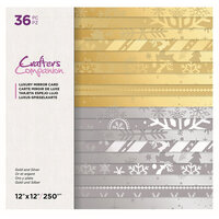 Crafter's Companion - 12 x 12 Luxury Mirror Card Pad - Gold and Silver